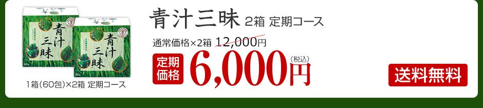 青汁三昧 2箱定期コース 定期価格6,000円 送料無料