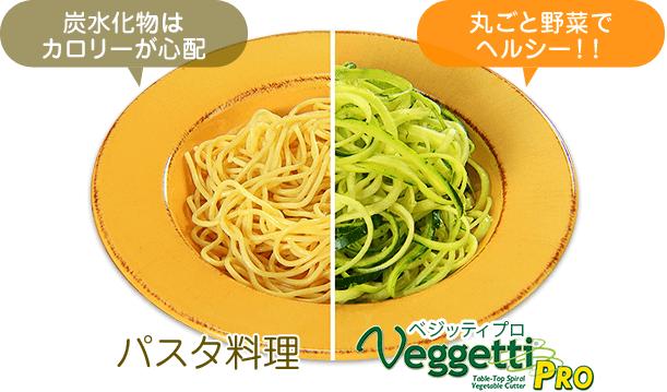 炭水化物はカロリーが心配(パスタ料理)|丸ごと野菜でヘルシー!!(ベジッティプロ)