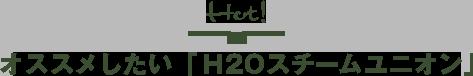 Hot! オススメしたい最新モデル「H2Oスチームユニオン」