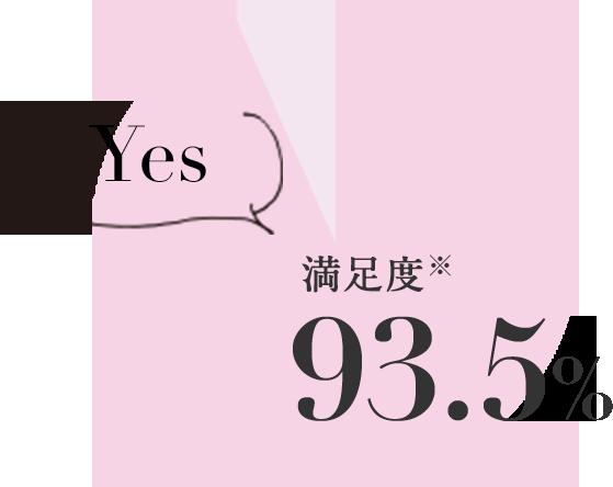 満足度 93.5%