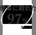 簡単に剃れた 97% ※n=70