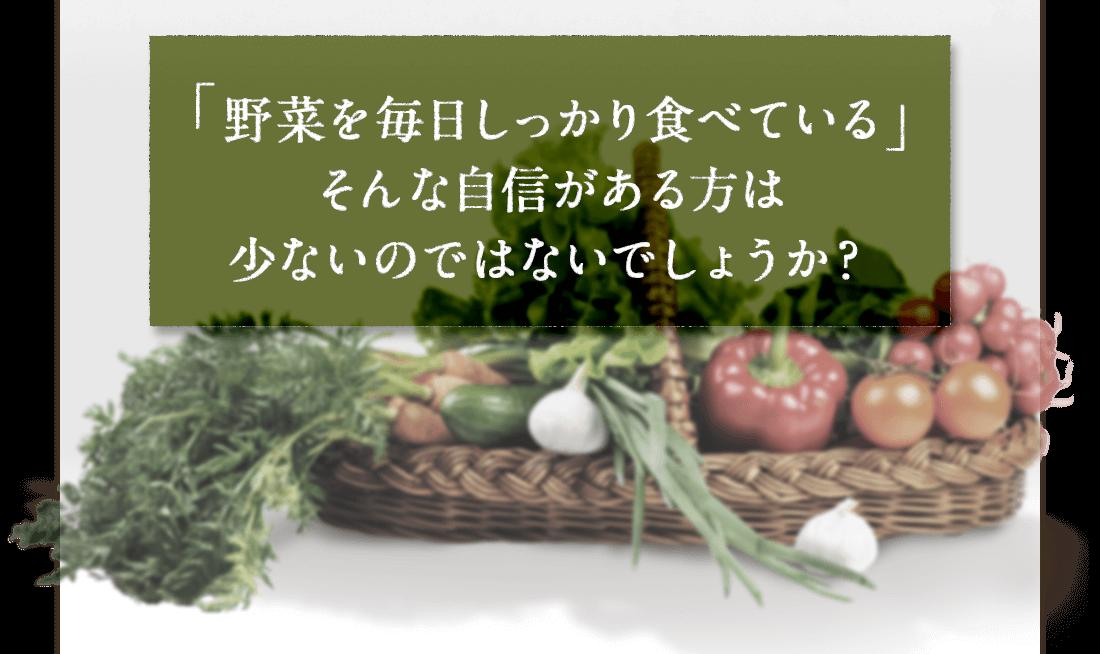 「野菜を毎日しっかり食べている」そんな自信がある方は少ないのではないのでしょうか