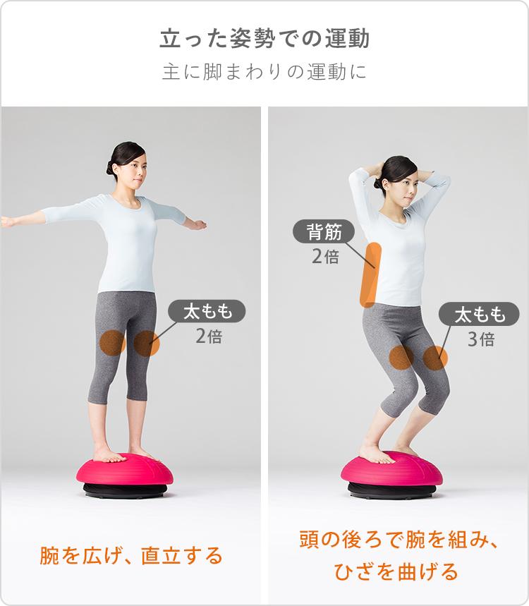 立った姿勢での運動 主に脚まわりの運動に