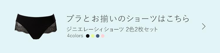 ブラとお揃いのショーツはこちら ジニエレーシィショーツ2色2枚セット 4colors
