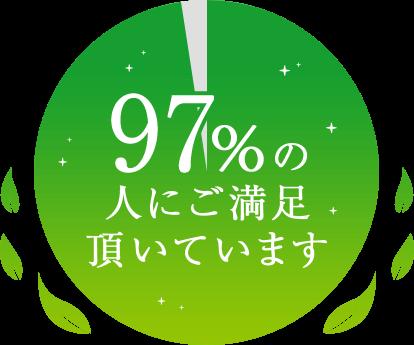 97%の人にご満足頂いています